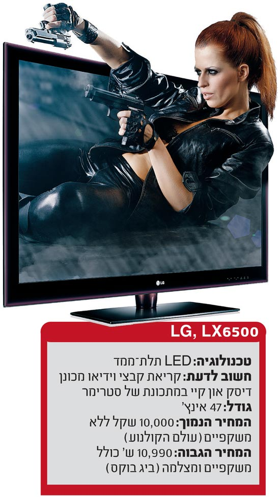 טלוויזיה תל מימד LG / צלם: יחצ